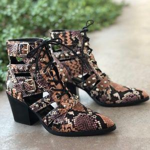 Sam Edelman Elana Studded Pyton Ankle Boots